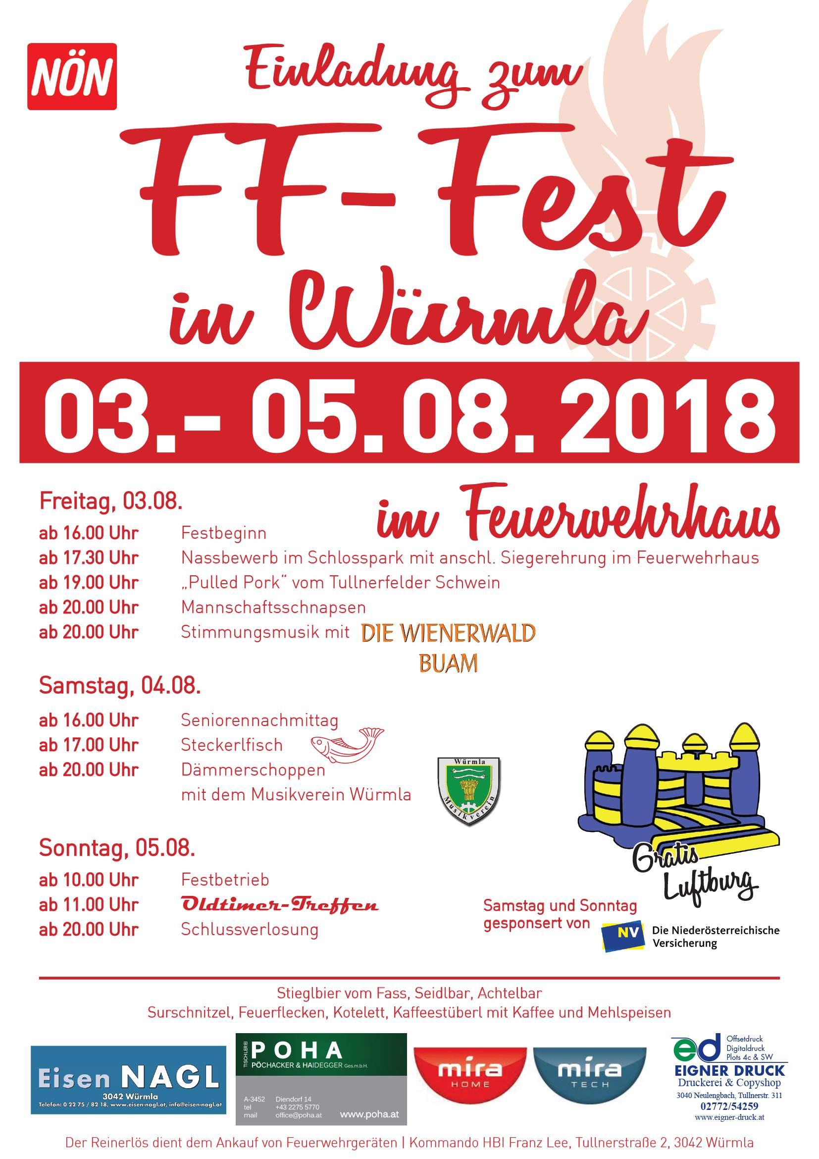 Vorankündigung FF-Fest 2018