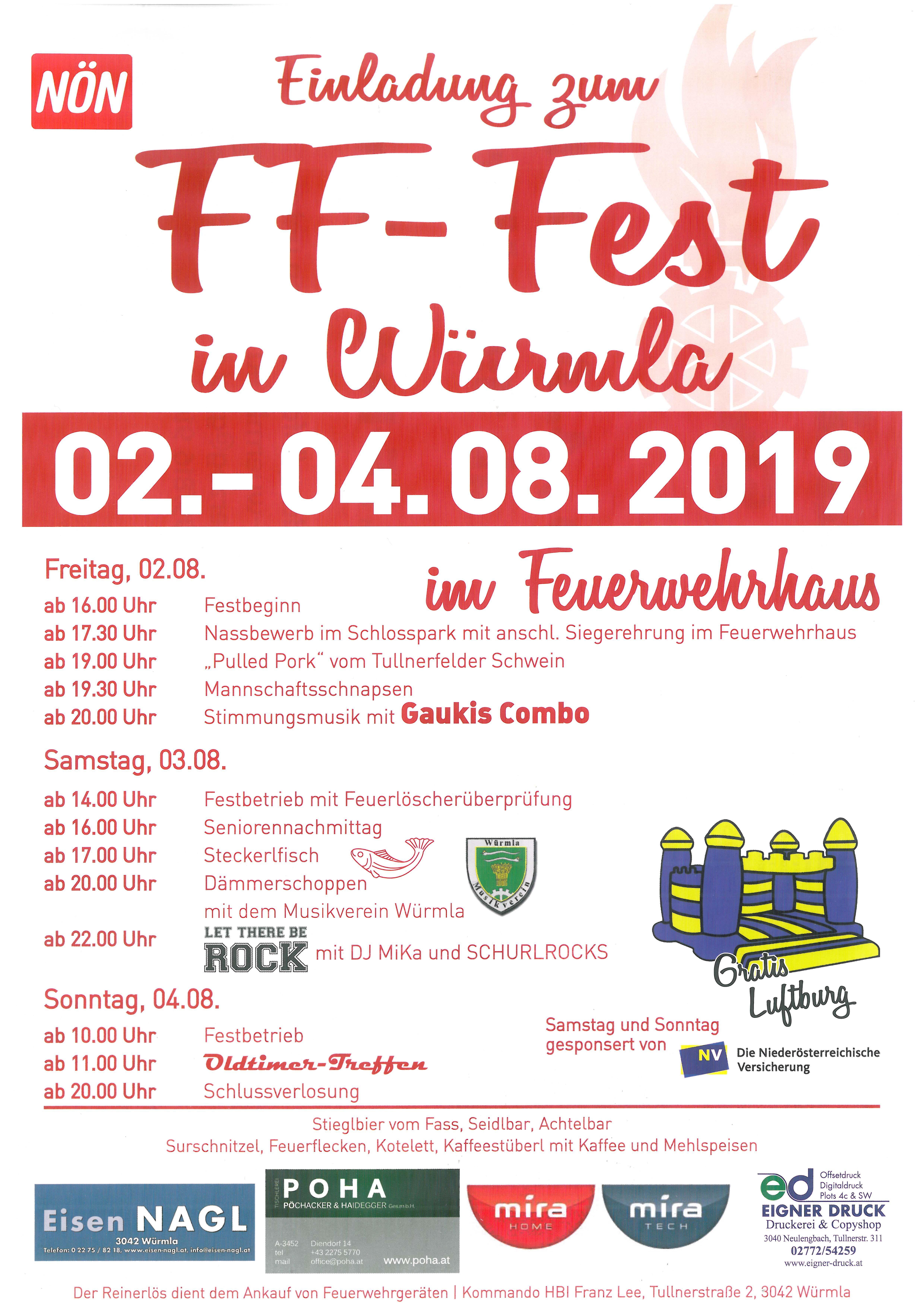 Vorankündigung FF-Fest 2019